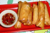 Spring Rolls made at Koh Chang Cooking School